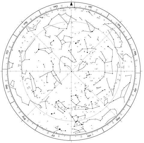 mappa stellare da